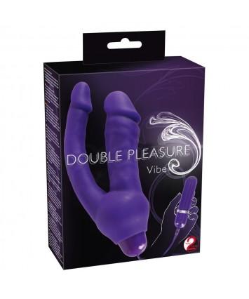 Анально-вагинальный вибромассажер  Double Pleasure - Orion, 12.5 см