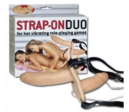 Двойной вибрирующий страпон Duo