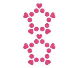 Пестисы Круги и Сердца, 8 см