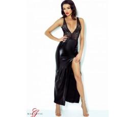 Длинное платье с глубоким декольте и вырезом на спине Jacqueline (Magnetic) от Demoniq