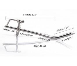 Изогнутый уретральный стимулятор 14,9 см.