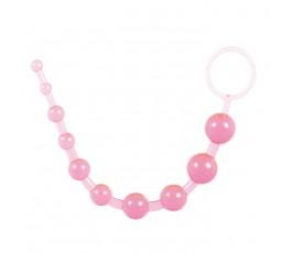 Анальные шарики на жесткой связке Thai toy beads, 2.5 см