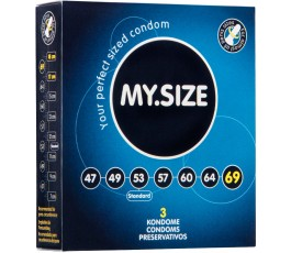 Презервативы MY.SIZE - 6.9 см, 3 шт.