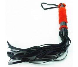 Лакированная плеть с мехом - BDSM Light