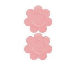 Наклейки на грудь - стикини в форме цветочков. Многоразовые.