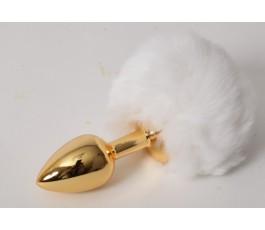 Пробка c хвостом Задорный Кролик, 6 см