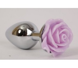 Анальная пробка с розой, 9.5 см