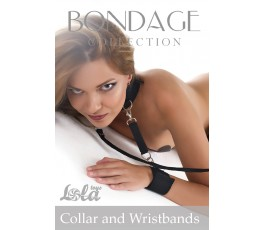 Ошейник с наручниками Bondage Collection Collar and Wristbands