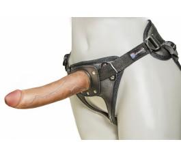 Кожаные трусики Harness Ultra Realistic, 18 cм.