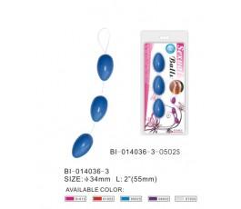 Анальные шарики голубые 17.5 см