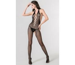 Кетсьют-сетка с имитацией шнуровки, открытой спинкой и доступом Femme Fatale