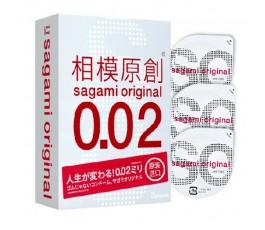 Презервативы Sagami Original 0.02, 3 шт.