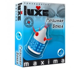 Презервативы с усиками и пупырышками Глубинная Бомба - Luxe Maxima, 1 штука