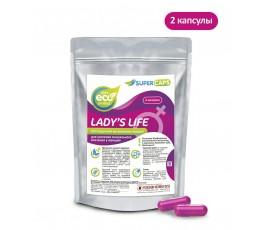 Возбуждающее средство для женщин Lady's Life - Supercaps, (2 капсулы)