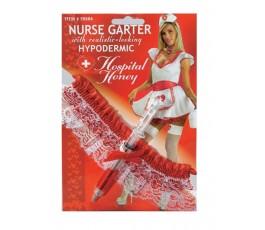 Подвязка медсестры со шприцем