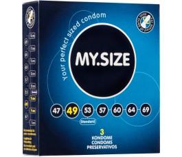 Презервативы MY.SIZE - 4.9 см - 3 шт