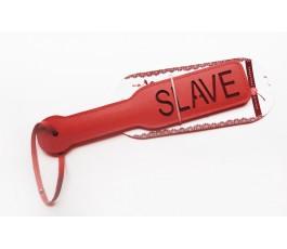 Красная шлёпалка Slave