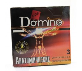 Анатомические презервативы DOMINO, 3 шт.