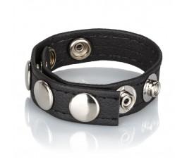 Ремешок на член Leather Multi-Snap Ring 22 см