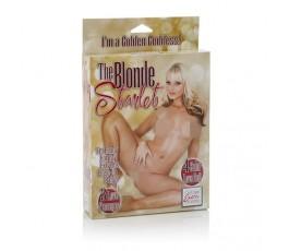 Надувная секс-кукла с напечатанным лицом The Blonde Starlet - California Exotic Novelties