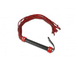 Плеть-многохвостка, красная с черным